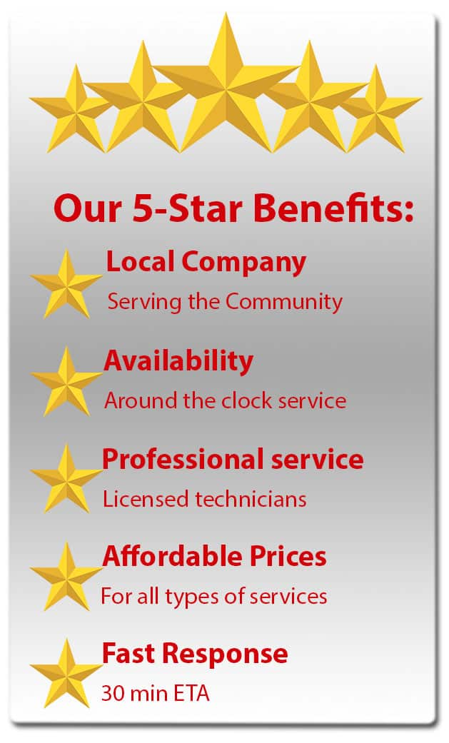 five stars benefits for the local community of Pasadena TX