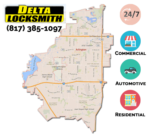 Arlington TX locksmith services (817) 358-1097